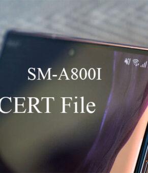 Samsung SM-A800I CERT File