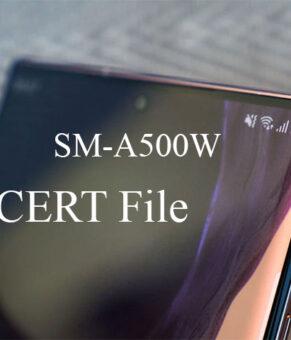 Samsung SM-A500W CERT File