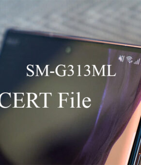 Samsung SM-G313ML CERT File